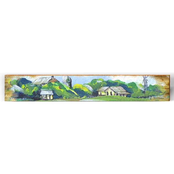 "Whimsical Painting Farm Large Piece | Size: 9.5"" x 60""-Mill Wood Art"