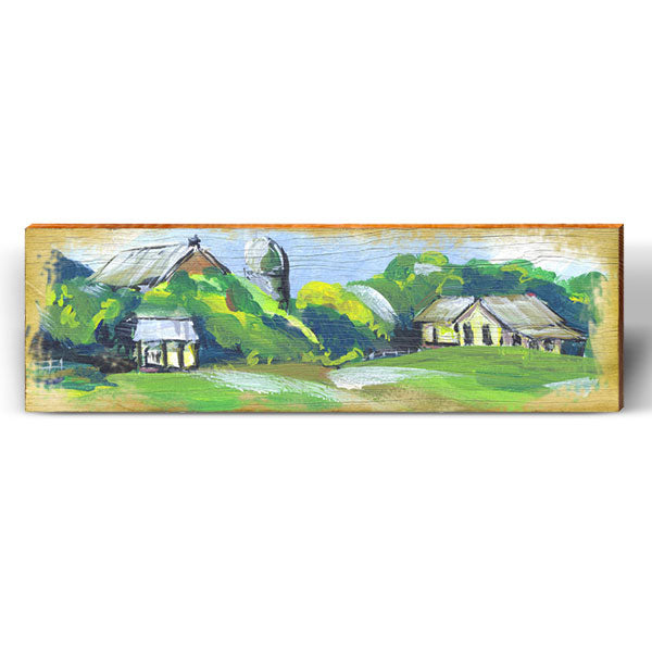 Whimsical Painting Farm Piece-Mill Wood Art