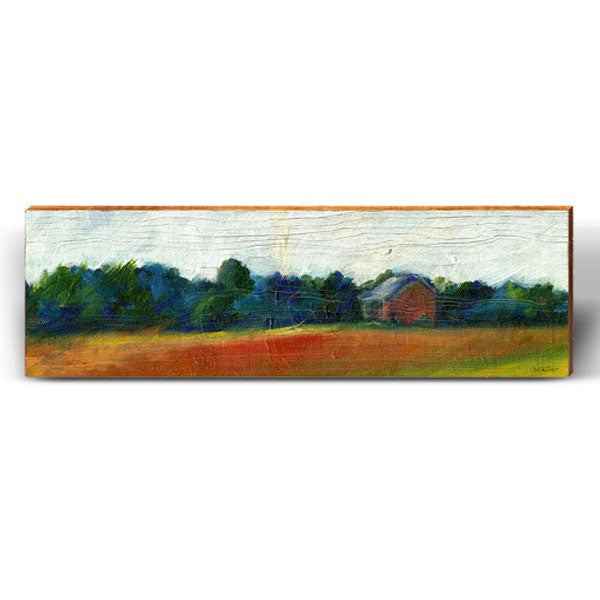Flowing Painted Farm Piece-Mill Wood Art