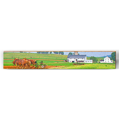 "Amish Farm Horses Large Piece | Size: 9.5"" x 60""-Mill Wood Art"