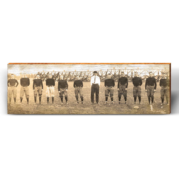 Vintage Football Team Photo Piece-Mill Wood Art