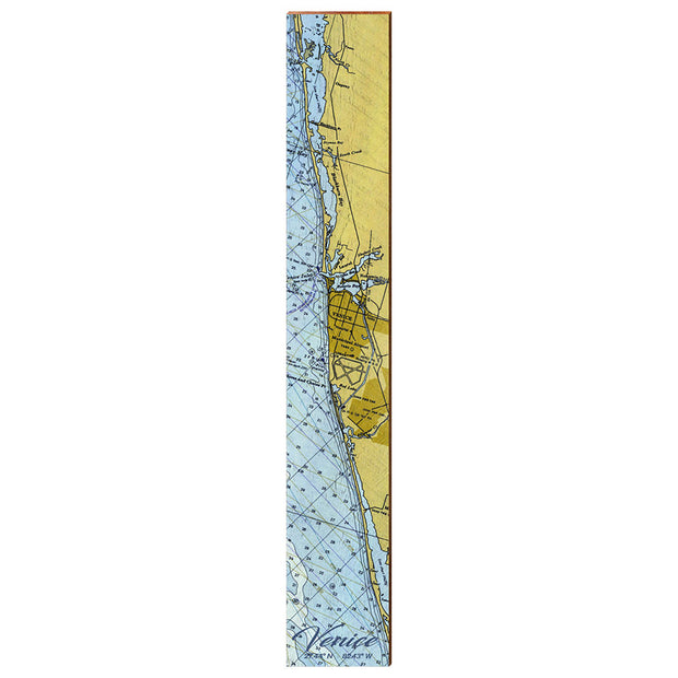 "Venice, Florida Navigational Chart Vertical Large | Size: 9.5"" x 60"" Wall Art-Mill Wood Art"