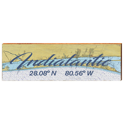 Indialantic, Florida Navigational Chart Wall Art-Mill Wood Art