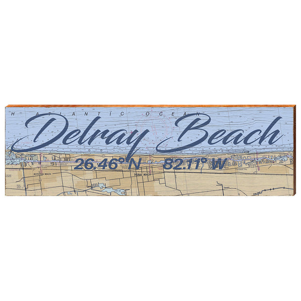 Delray Beach, Florida Navigational Chart Wall Art-Mill Wood Art