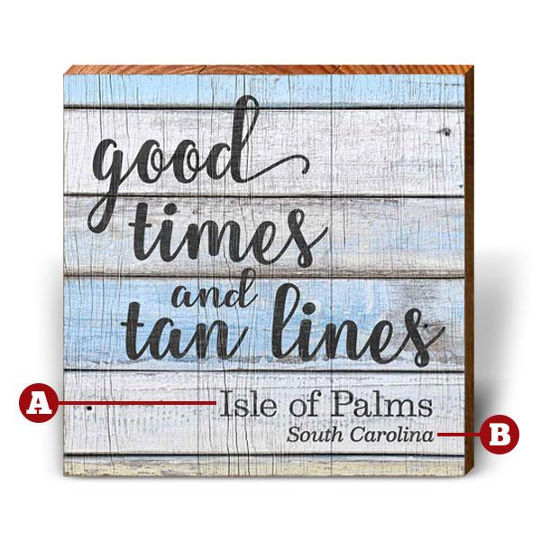 Customizable Tan Lines #3-Mill Wood Art