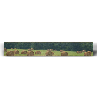 "Hay Bale Field Large Piece | Size: 9.5"" x 60""-Mill Wood Art"