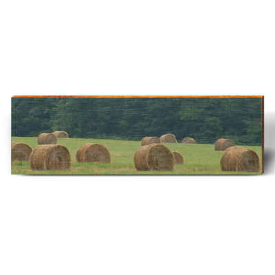 Hay Bale Field-Mill Wood Art