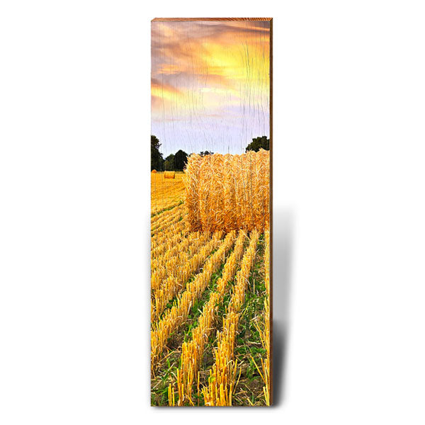 Golden Sunset Hay Bale-Mill Wood Art