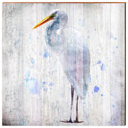 Watercolor Standing Heron-Mill Wood Art