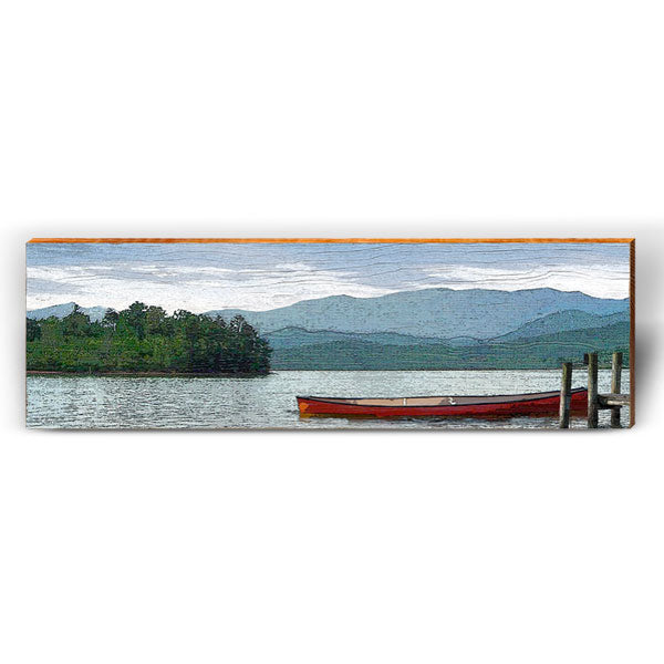 Serene Mountain Lake Scene-Mill Wood Art