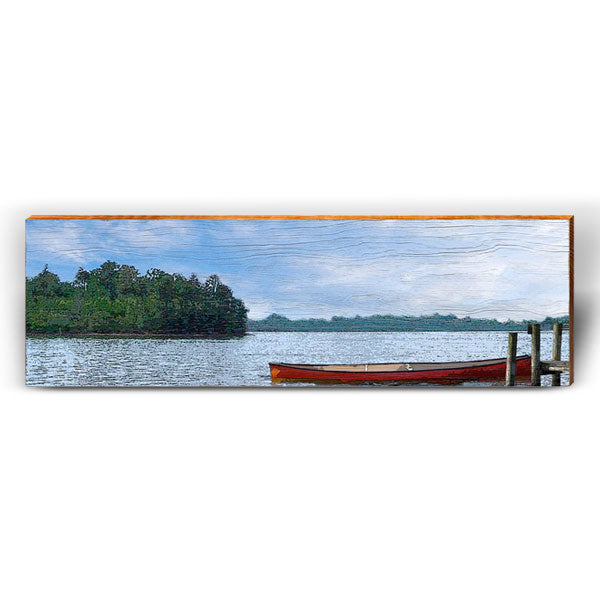 Calm Morning Lake Scene-Mill Wood Art