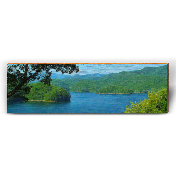 Whimsical Mountain Lake Scene-Mill Wood Art