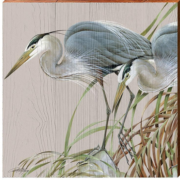 Art Lamay | Herons In Marsh