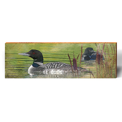 Floating Loon Piece-Mill Wood Art