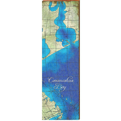 Carancahua Bay, Texas Topographical Styled Map Wall Art-Mill Wood Art