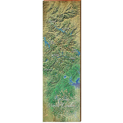 Cashiers, North Carolina Topographical Styled Chart-Mill Wood Art