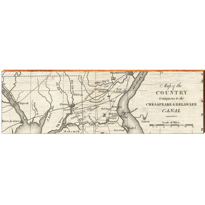 Chesapeake & Delaware Canal Map Wall Art-Mill Wood Art