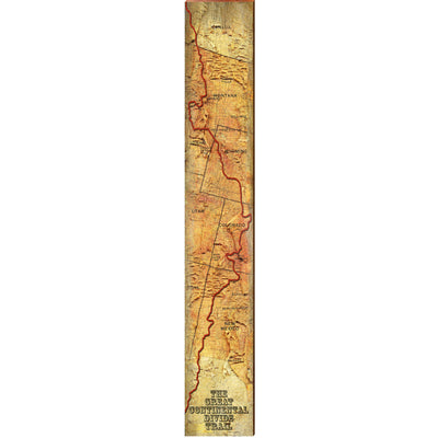 "The Continental Divide Map Large | Size: 9.5"" x 60"" Wall Art-Mill Wood Art"