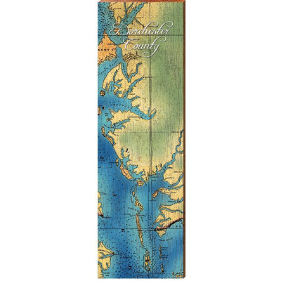 Dorchester County, Maryland Topographical Styled Chart-Mill Wood Art