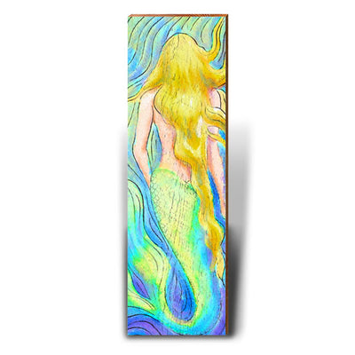 Watercolor Mermaid - Blonde-Mill Wood Art