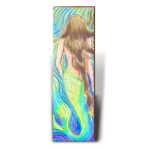 Watercolor Mermaid - Brunette-Mill Wood Art