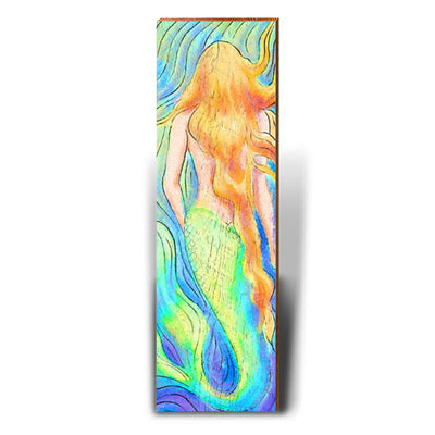 Watercolor Mermaid - Red Hair-Mill Wood Art
