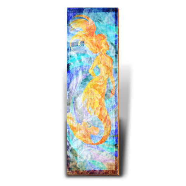 Golden Mermaid-Mill Wood Art