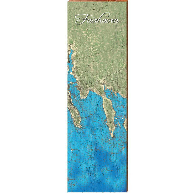 Fairhaven, Massachusetts Topographical Styled Chart-Mill Wood Art