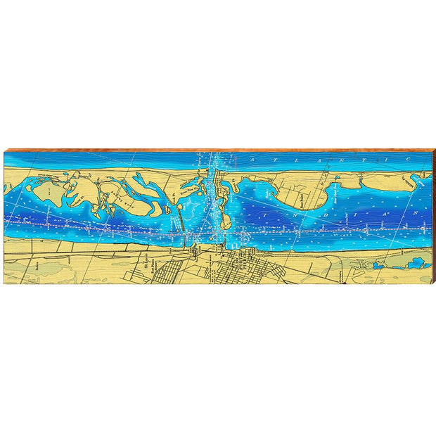Fort Pierce, Florida Topographical Styled Map Wall Art-Mill Wood Art