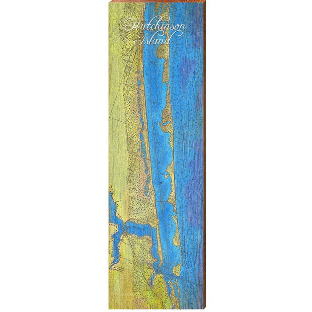 Hutchinson Island, Florida Topographical Styled Map Wall Art-Mill Wood Art