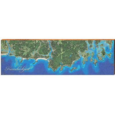 Kennebunkport, Maine Satellite Styled Map Wall Art-Mill Wood Art
