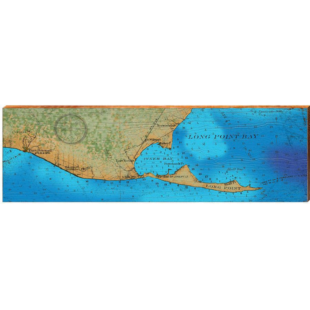 Long Point Bay, Lake Erie Topographical Styled Chart-Mill Wood Art