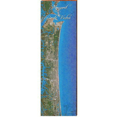 Mayport to Ponte Verda, Florida Satellite Styled Map Wall Art-Mill Wood Art