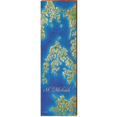 St. Michaels, Maryland Topographical Styled Chart-Mill Wood Art