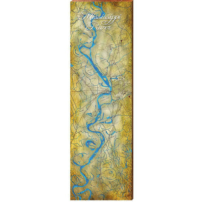 The Mississippi River Topographic Map-Mill Wood Art