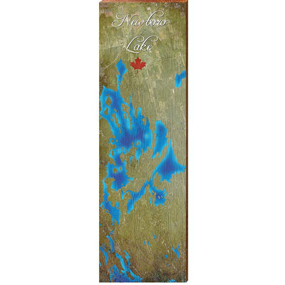Newboro Lake, Canada Satellite Map Wall Art-Mill Wood Art