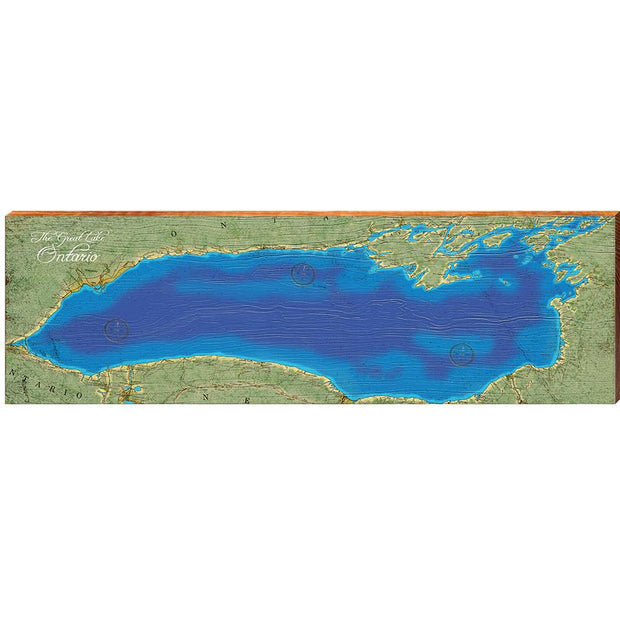 Lake Ontario Topographical Styled Chart-Mill Wood Art