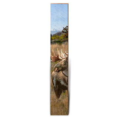 "Moose in the Wilderness Large Piece | Size: 9.5"" x 60""-Mill Wood Art"