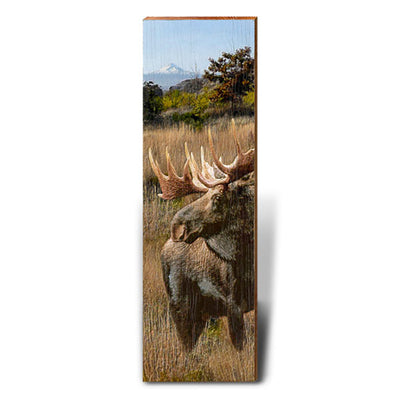 Moose in the Wilderness-Mill Wood Art
