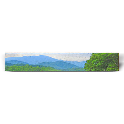 "Blue Ridge Large Piece | Size: 9.5"" x 60""-Mill Wood Art"