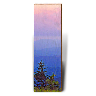 Sunrise Mountains Piece-Mill Wood Art