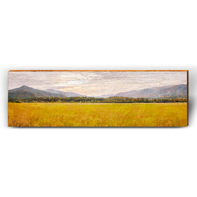 Open Field Valley Piece-Mill Wood Art