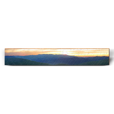 "Mountain Sunset Large Piece | Size: 9.5"" x 60""-Mill Wood Art"