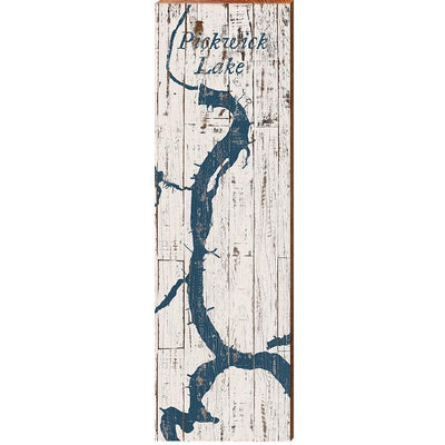 Pickwick Lake, Alabama Navy & White Map Wall Art-Mill Wood Art