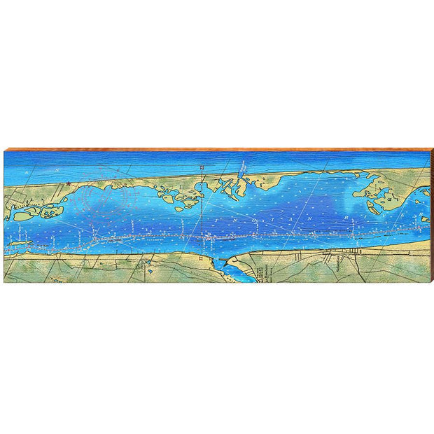Sebastian, Florida Topographical Styled Map Wall Art-Mill Wood Art