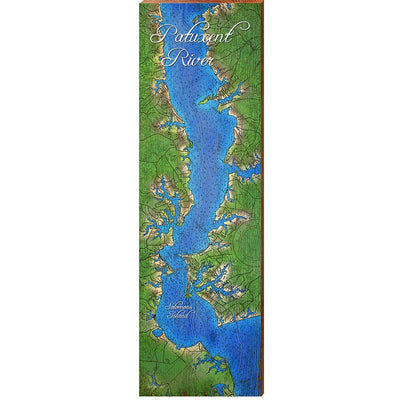 Patuxent River with Solomons Island, Maryland Topographical Styled Chart-Mill Wood Art