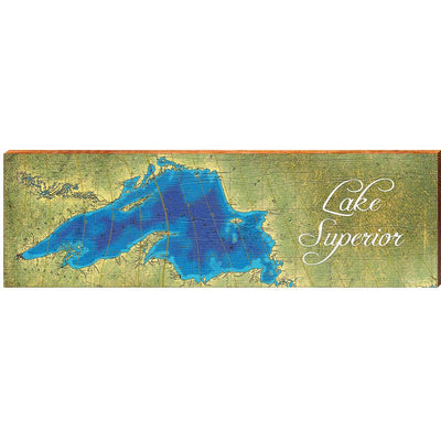 Lake Superior Topographical Styled Chart-Mill Wood Art