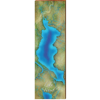 Lake Verret, Louisiana Satellite Styled Map Wall Art-Mill Wood Art