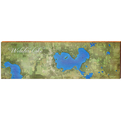 Webster Lake, Indiana Satellite Styled Map Wall Art-Mill Wood Art