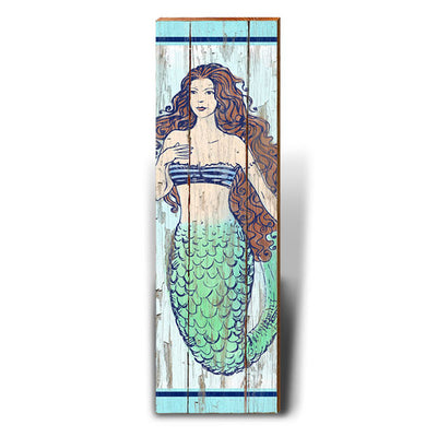 Rustic Mermaid - Brunette-Mill Wood Art